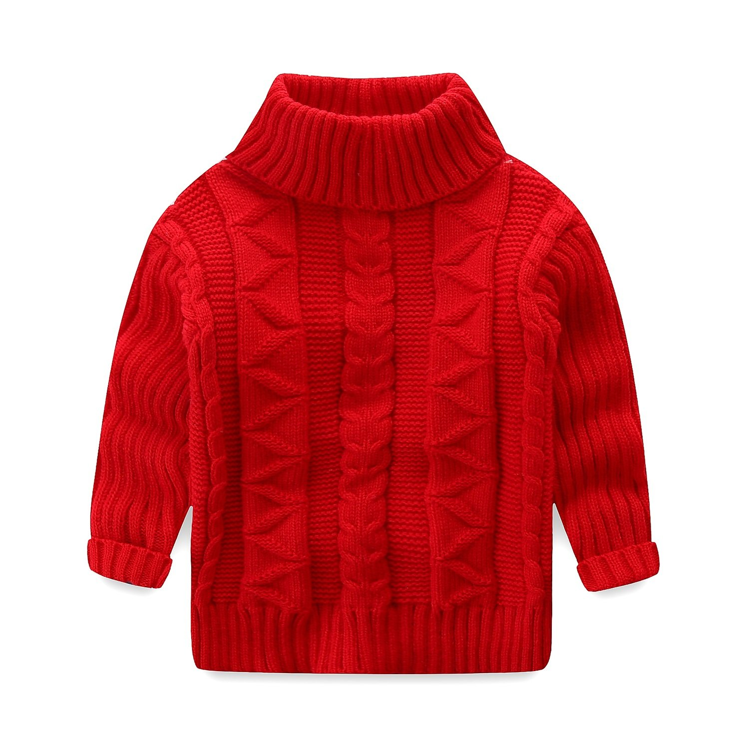 Mud Kingdom Toddler Boys Girls Turtleneck Pullover Base Tops Sweater Z-S0420