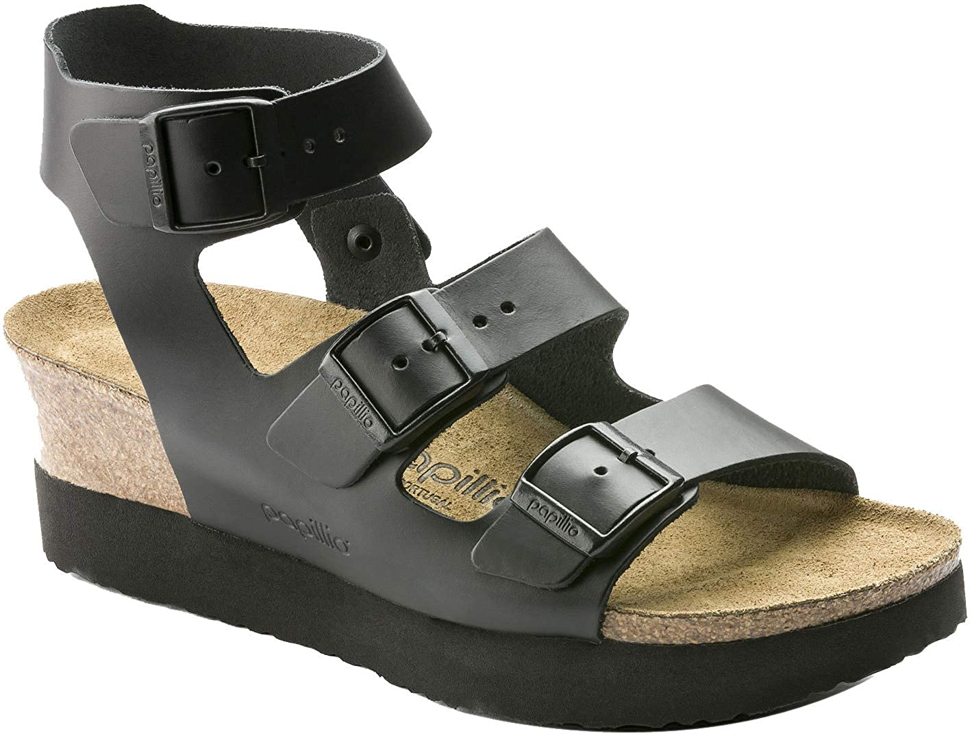 1eb8d78951 Amazon.com | Birkenstock Womens Linnea Sandal, Black, Size 42 N EU (11-11.5  N US Women) | Sandals