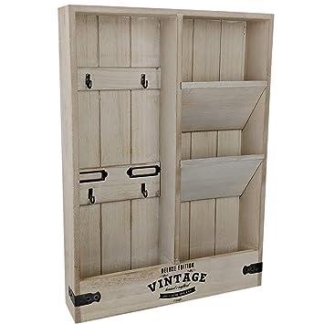 Dszapaci Wandorganizer Schlusselbrett Holz Mit Ablage Briefablage Wand Schlusselboard Vintage Wandboard Holz
