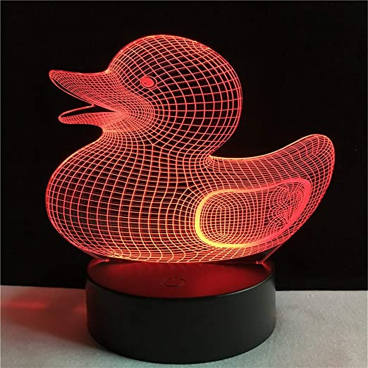 Led8N 3D Lámpara óptico Illusions Luz Nocturna,LED Lámpara de Mesa ...