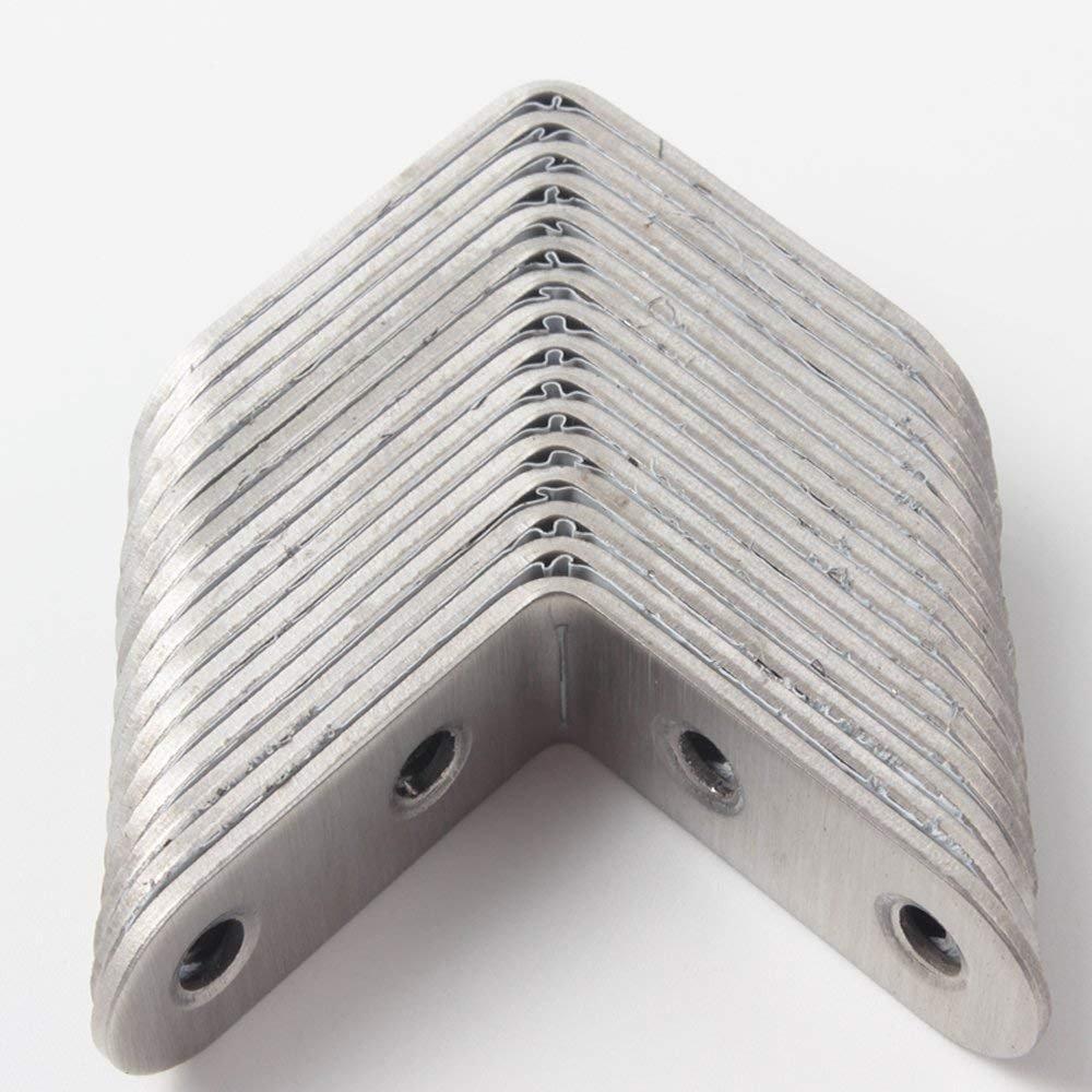 con 80 tornillos MINGZE Soportes de esquina de acero inoxidable de 16 piezas refuerzo de acero inoxidable de 40 mm x 40 mm Sujetador de /ángulo de /ángulo recto de esquina de acero de esquina conjunta