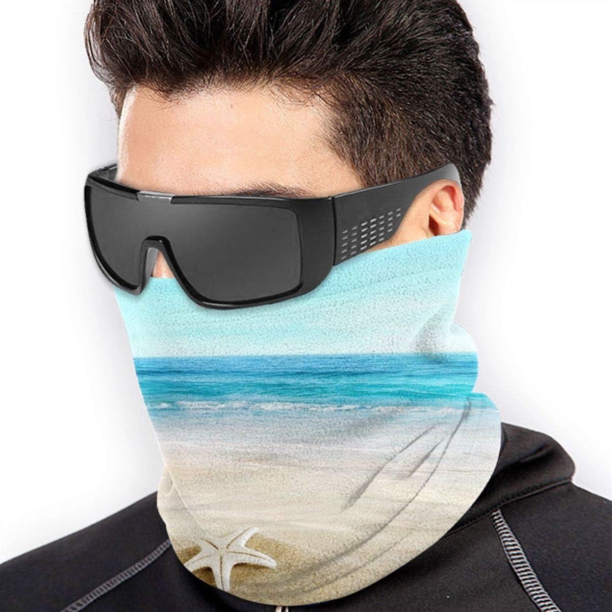 Starfish Seashells Sand Beach Neck Warmer Gaiter For Men Women Headband Face Mask Bandana Head Wrap Scarf Headwear Winter Balaclava For Ski Running Motorcycle