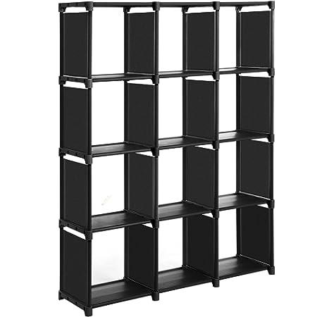 SONGMICS Estantería Modular Librería Abierta con 9 Cubos Armario de Almacenamiento para Estudio de Hogar Sala de Estar Negro LSN45BK: Amazon.es: Juguetes y juegos