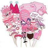 36tlg. Flamingo Foto Verkleidung Photo Booth Props Maske Baby Hochzeit Party Geburtstag Fotorequisiten Fotoautomaten Partymitbring