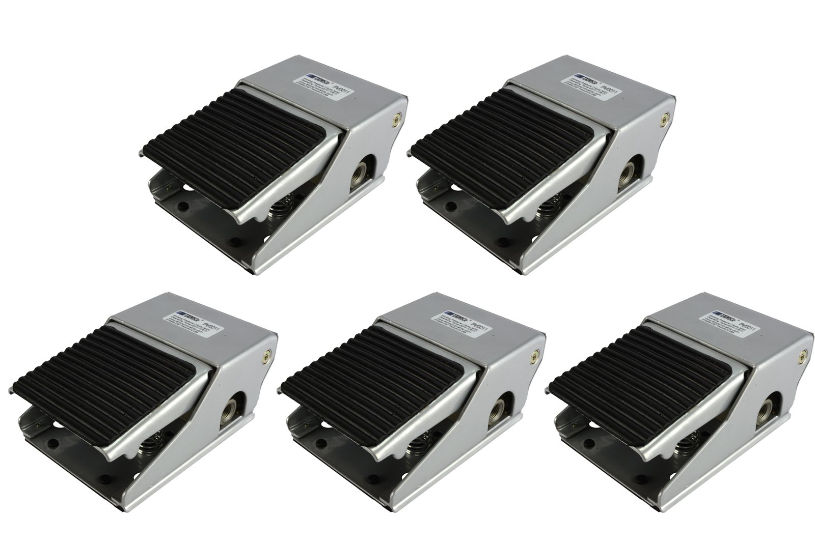 TEMCo 5 LOT Foot Pedal Control Valve 2 Position 4 Port 1/4'' NPT Air Pneumatic Switch 5 Year Warranty