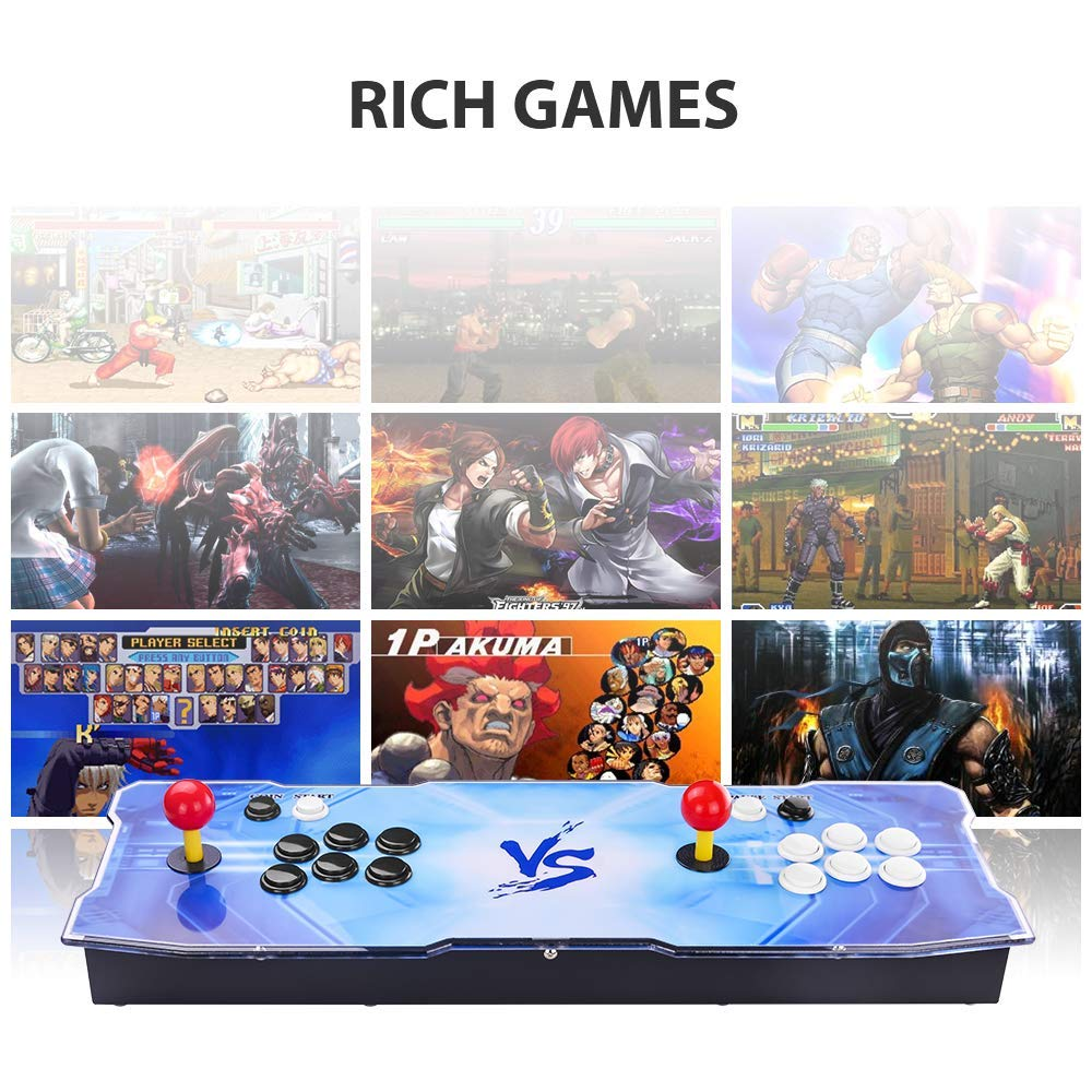 Pandora's Box 9 Multiplayer Joystick and Buttons Arcade Console, TAPDRA Arcade Games Machines for home, 1500 Retro Classic Video Games All in One, Newest System with Advanced CPU, Compatible with HDMI by TAPDRA (Image #5)