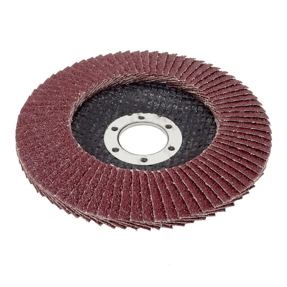 SBS Flap Discs Diameter 115 mm Grain 40 Brown For Angle Grinder Sanding Mop Pack of 10