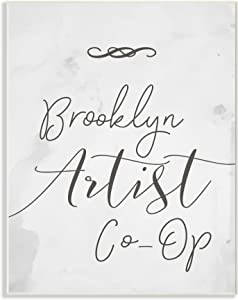 Stupell Industries Brooklyn Artist Co-Op Typography Sign Oversized Wall Plaque Art, Proudly Made in USA