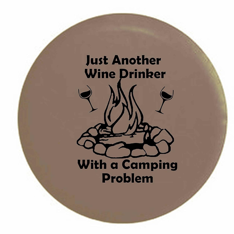 Just Another Wine Drinkerのキャンプの問題解決キャンプファイヤーキャンプRVスペアタイヤカバーOEMビニール 27.5