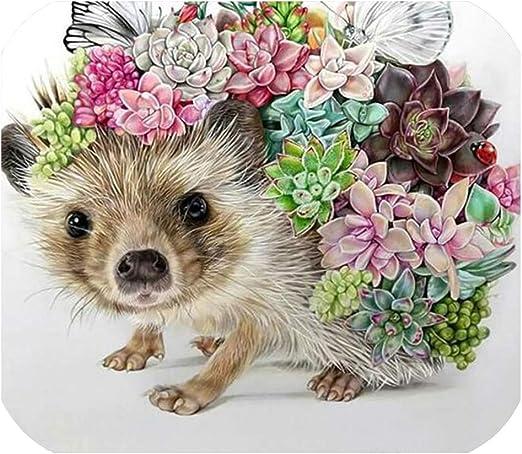 5D DIY Hedgehog Diamond Embroidery Painting Cross Stitch Wall Art Accessories