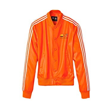 adidas Pharrell Williams Consortium X Track Z97399 Chaqueta, Hombre, Naranja y Blanco,