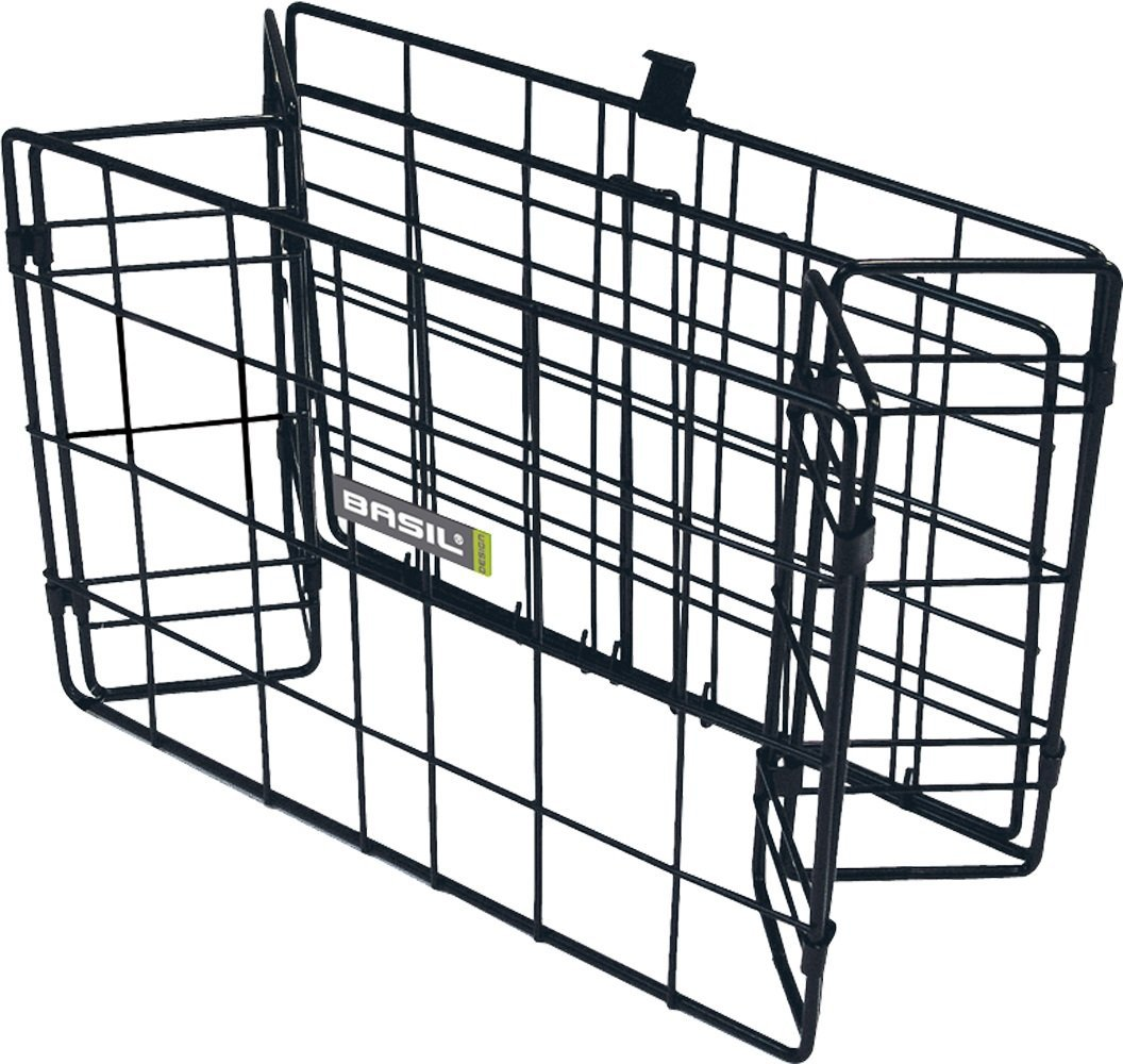 Bell Basil Colonia Rear Folding Wire Bicycle Basket, Black
