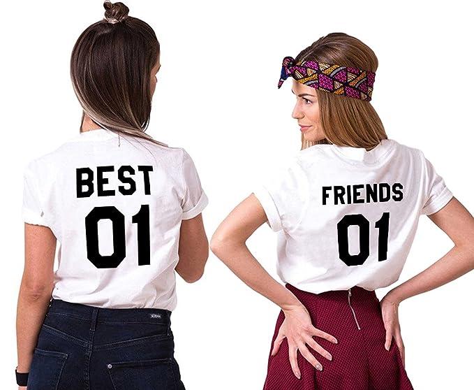 Mejores Amigas T Shirt Best Friends Camiseta 2 Piezas Shirt 100