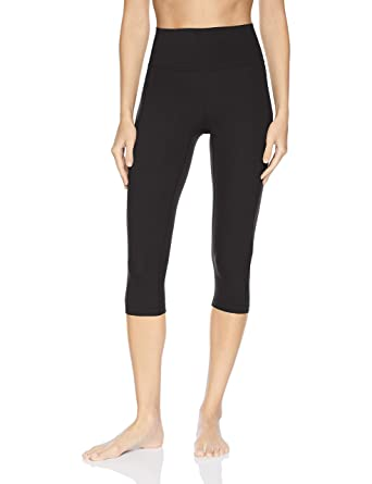 a1bcaf586bd73 Core 10 Women's Standard Nearly Naked Yoga High Waist Capri Legging-21,  Black,