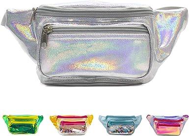 Womens Glitter Fanny Pack Sparkly Crossbody Bag Travel Festival