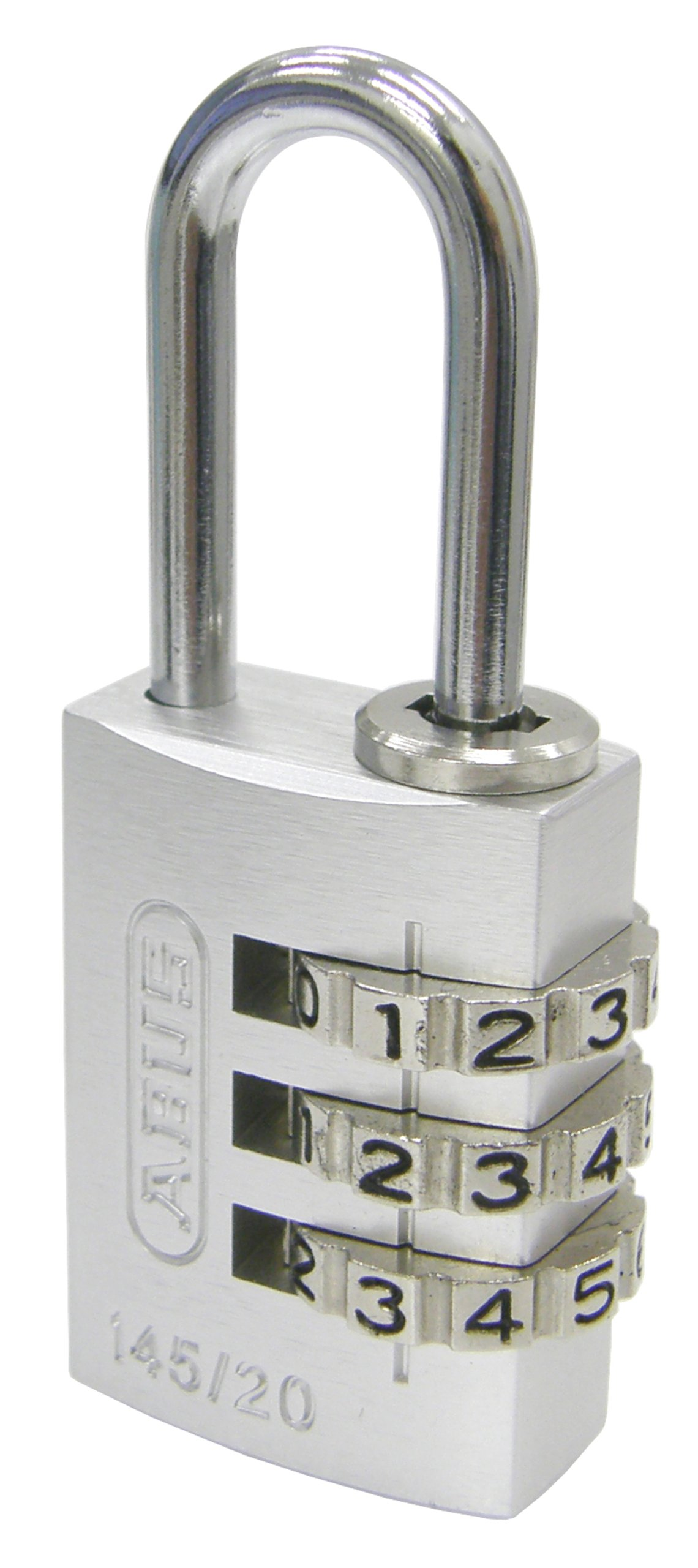COMBINATION PADLOCK, Light and Colorful, Compact size, Popular in versatile identification, Color : Silver