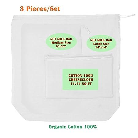 JANJA - Bolso de leche para queso y frutos secos, 3 piezas, 100 ...