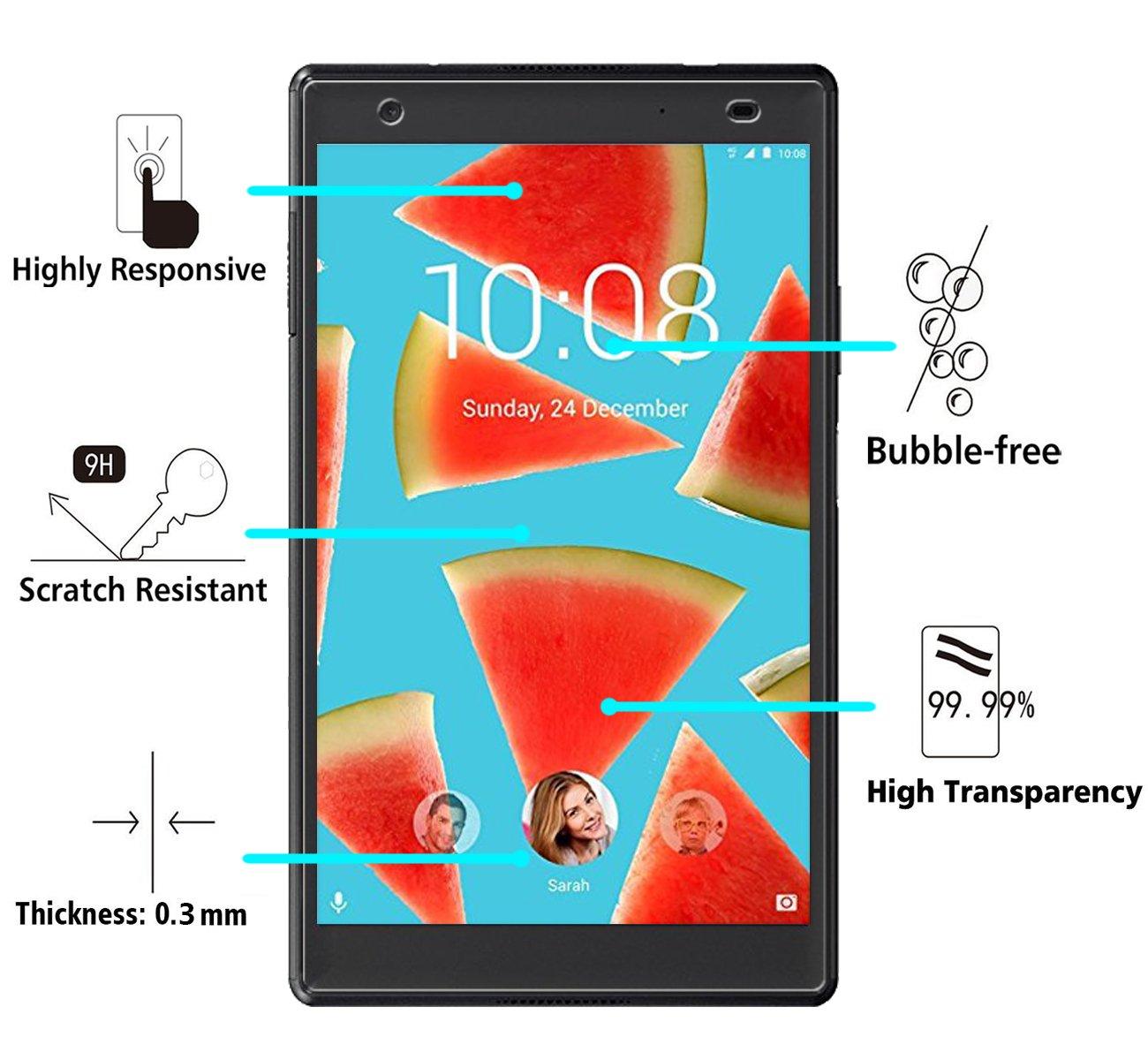 iVoler Protector de Pantalla para Lenovo TAB4 8 Plus/Lenovo Tab 4 8 Plus, Cristal Vidrio Templado Premium: Amazon.es: Electrónica