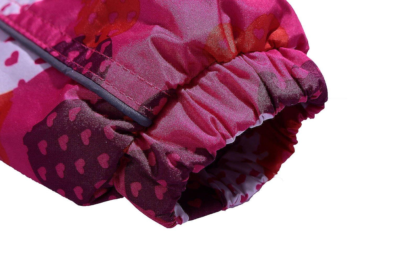 GGBaby Girls Fleece Lined Jacket Windproof Water Resistant Girls Outdoor Jacket with Hood