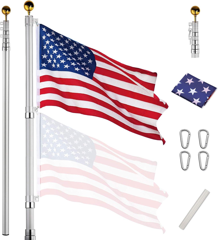 Yeshom Telescopic Aluminum Flag Pole