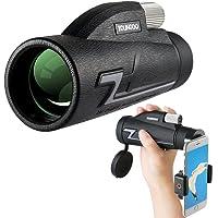 YOUNGDO 16x50 Téléscope Monoculaire, HD Monoculaire Haute Puissance, BAK4 Prisme FMC Revêtement, Monoculaire Puissant Imperméable avec Support de Téléphone pour Concerts/Chasse/ Observation
