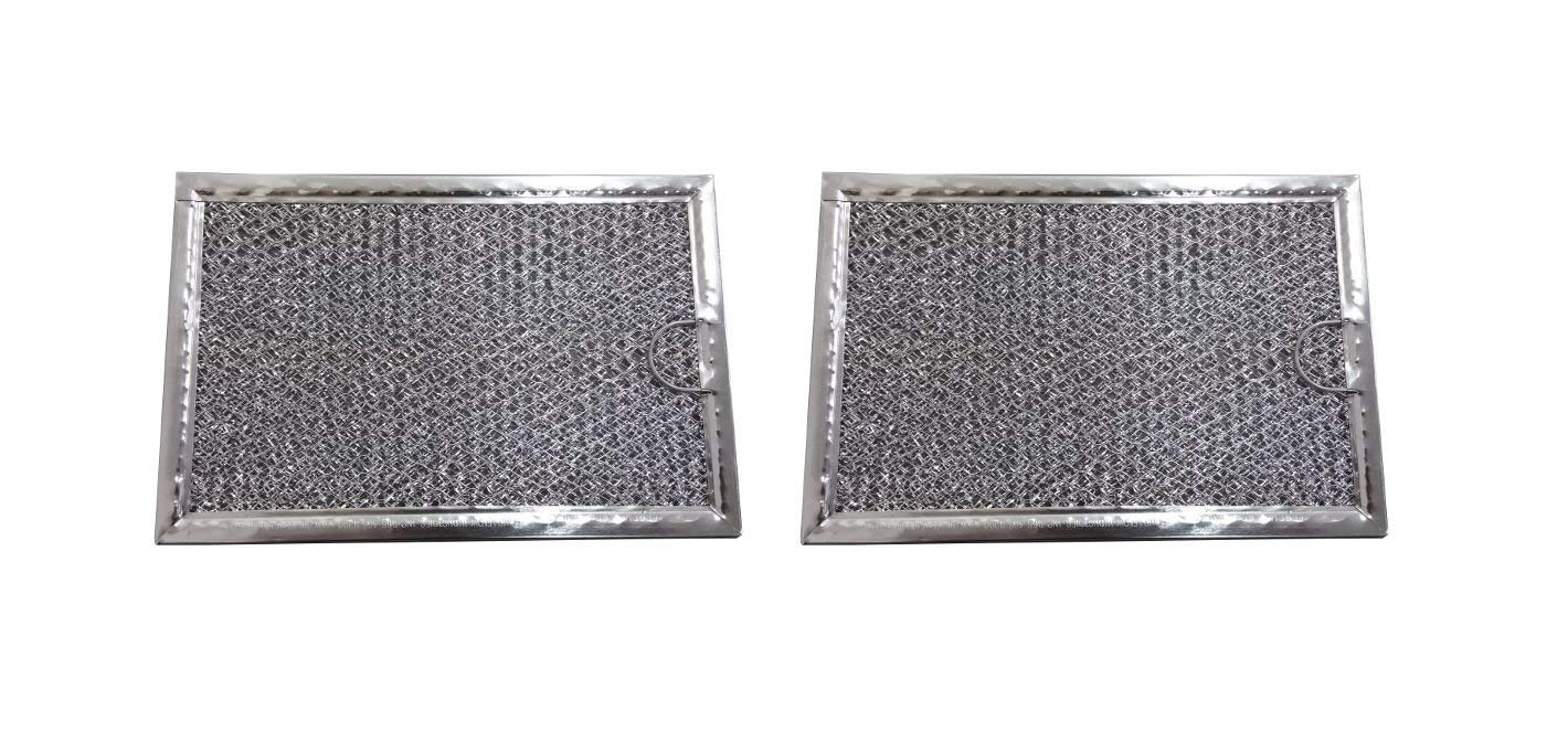 2 Pack Aluminum Mesh Microwave Grease Filter for Frigidaire 5304464105 - New