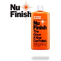 Nu Finish Liquid Polish 16 oz for Cars, Advanced Top Coat Sealant with Simple Once A Year Application, Perfect Kit for Fiberglass Boats, Motorcycles and Various Appliances