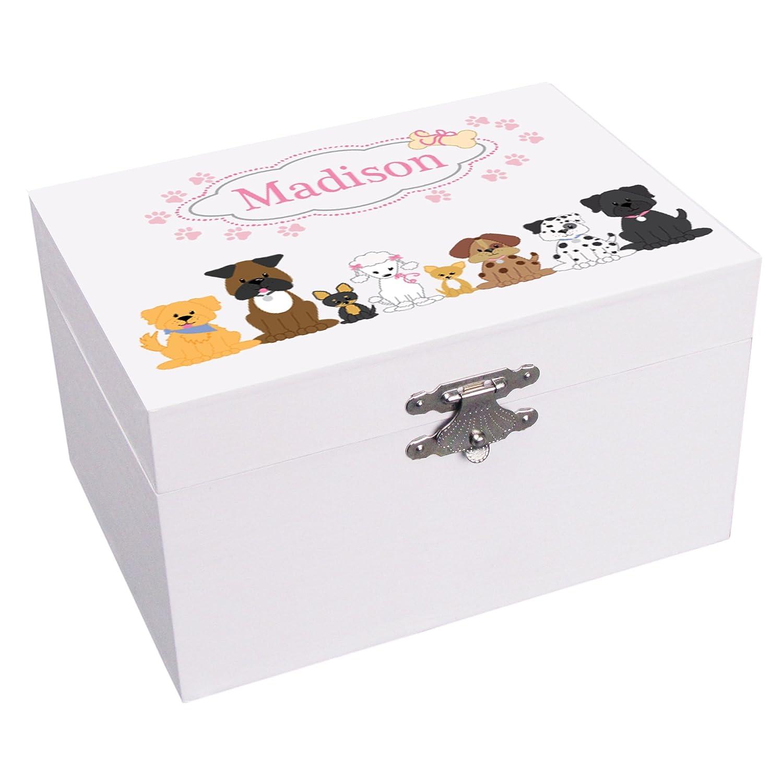 【はこぽす対応商品】 B0723G4Q5MPersonalizedピンク犬バレリーナ音楽ジュエリーボックス B0723G4Q5M, イワテマチ:b617ebf4 --- arcego.dominiotemporario.com