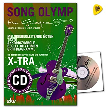 Song Olymp para guitarra con CD, Dunlop Púa – Mejores Canciones de hoy y clásico