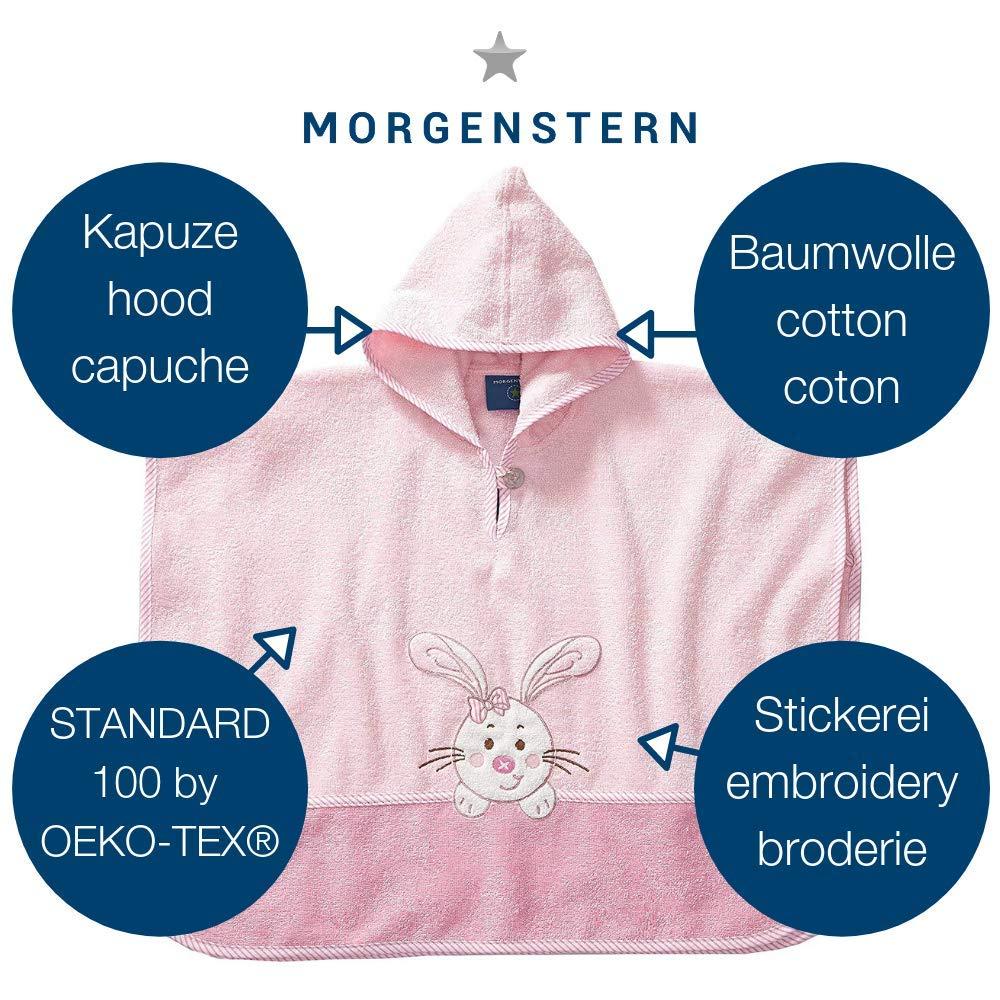 spugna/ circa 1/fino a 3/anni colore rosa motivo: coniglio Mattina a forma di stella /Poncho in 100/% cotone taglia unica /Vasca da bagno/