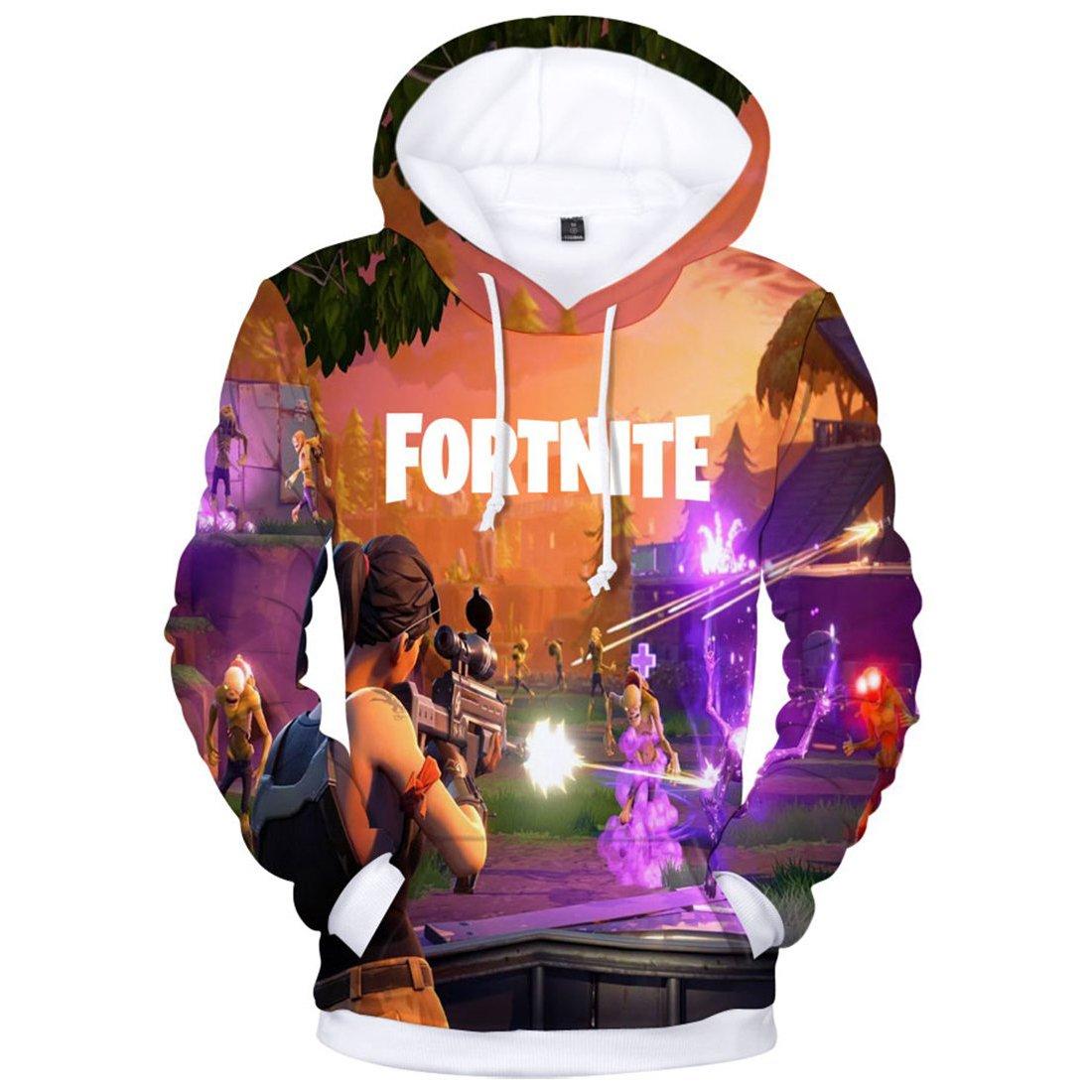 KIDSONE Premium Fnite 3D Printed Unisex Men Women Hoodie Novelty Teen Gaming Print Sweatshirt Pullover Top at Amazon Mens Clothing store: