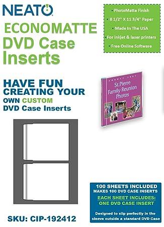 neato economatte dvd case inserts 100 sets amazon co uk electronics