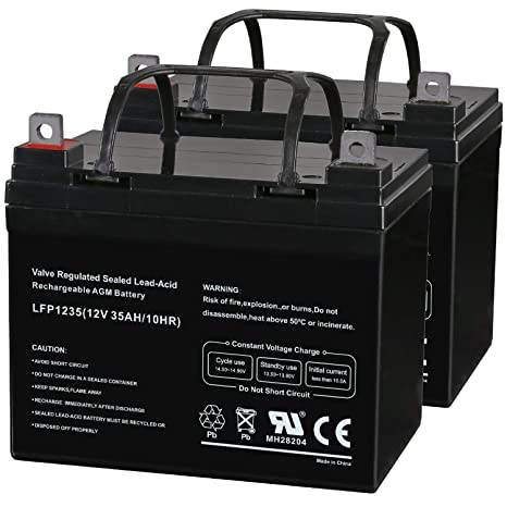 Weize 12V 35AH Deep Cycle Battery for Scooter Pride Mobility Jazzy on