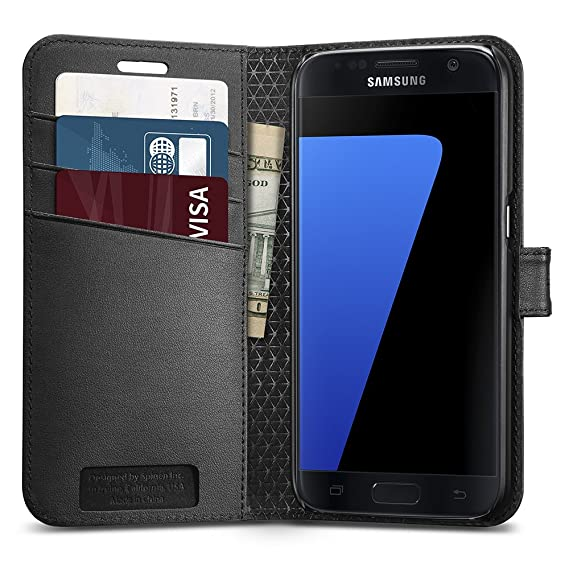 more photos 39020 c6a55 Spigen Wallet S Designed for Samsung Galaxy S7 Case (2016) - Black