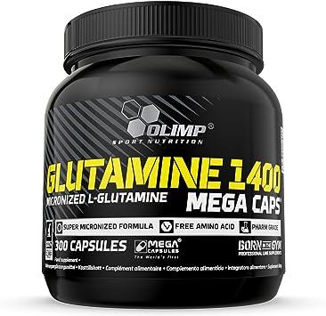 Olimp Sport Nutrition Glutamine Mega Caps, Glutamina - 300 Cápsulas
