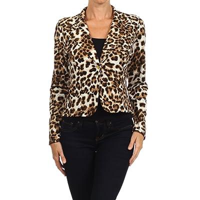 2LUV Women's Long Sleeve Single Button Tailored Blazer