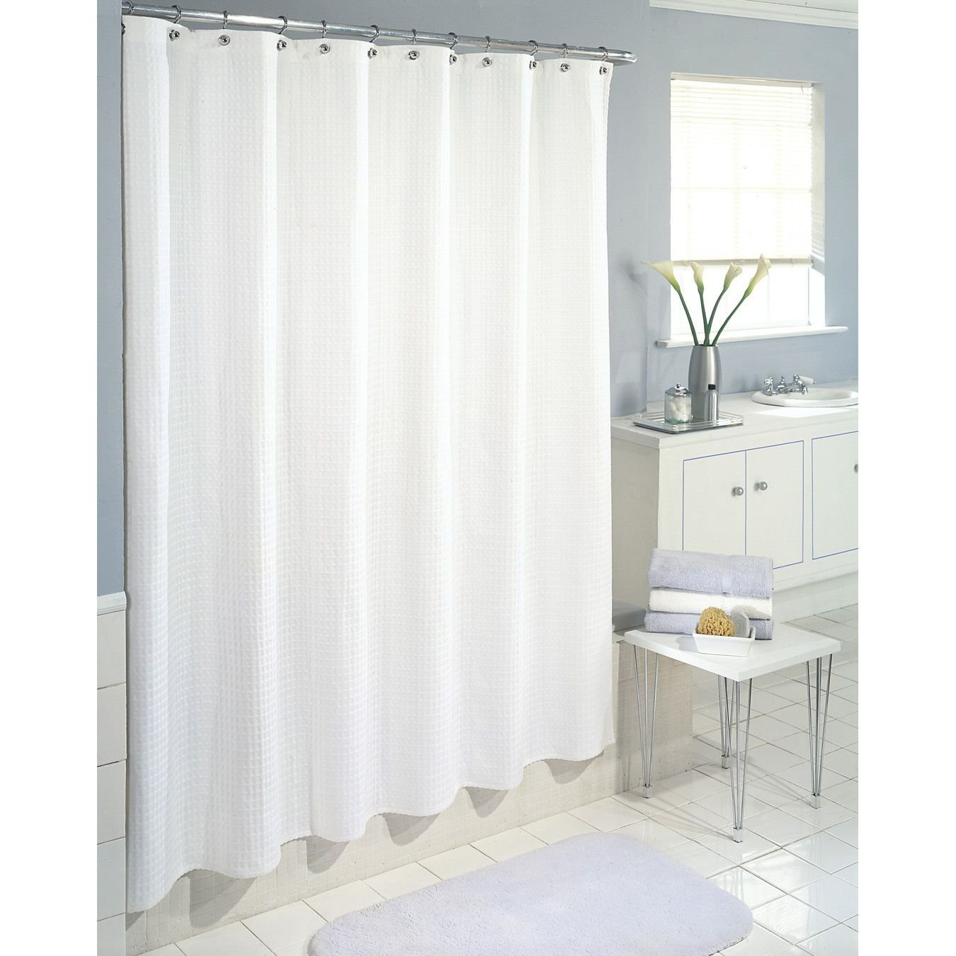 DeLaines Frosted Shower Curtain Liner Kid Safe