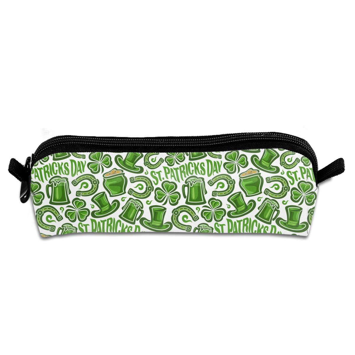 EWFBVa Durable Zipper Stationery Bag St. Patrick