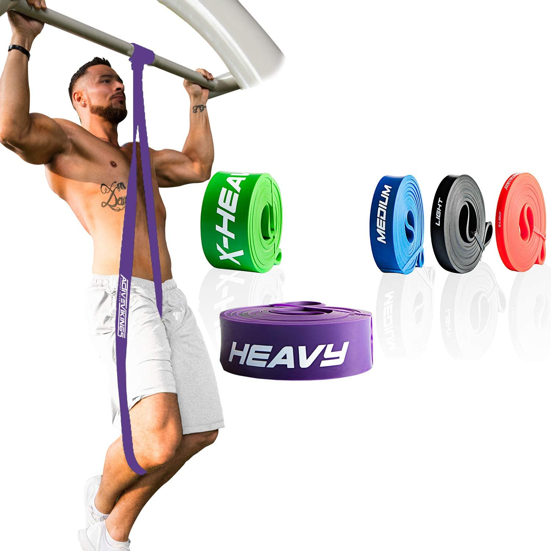 ActiveVikings/® Bande de fitness en tissu Pull-Up Parfait pour la musculation et le Crossfit Freeletics Calisthenics Bande de r/ésistance