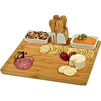 Picnic at Ascot Sherborne Bamboo Cheese Board Set with 4 Tools