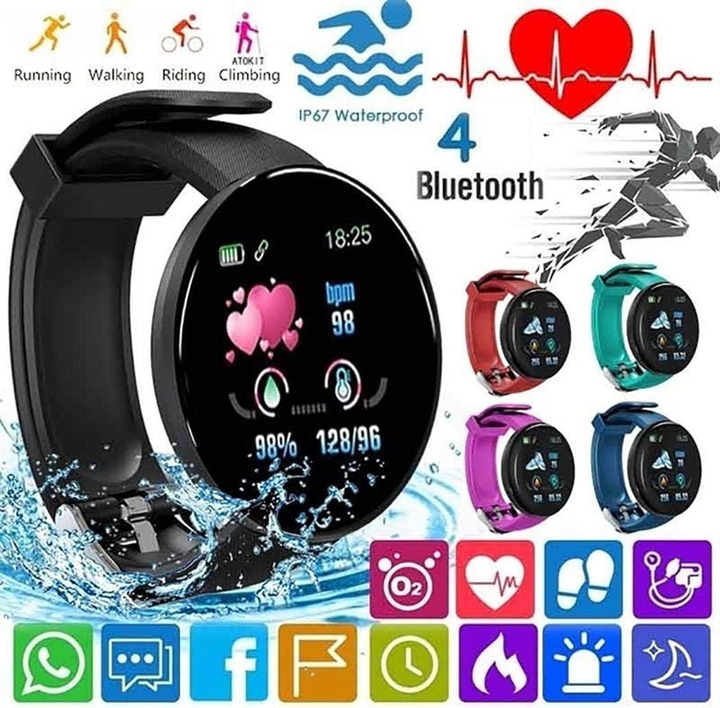 ROCONAT Pulsera Inteligente Unisex Casual Multifuncional con Forma Redonda Bluetooth Smartwatches