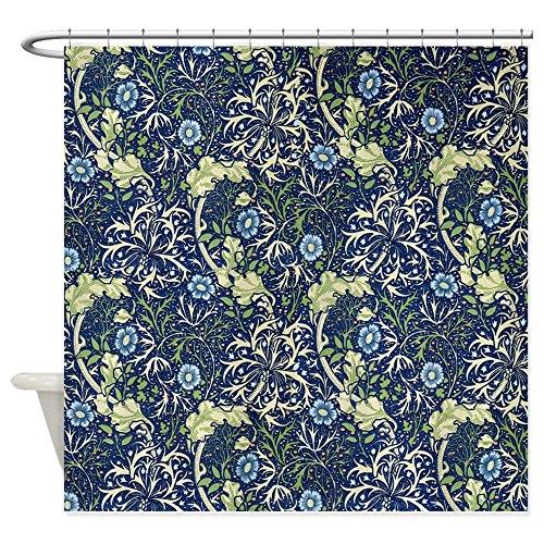 William Morris Iron (CafePress - Blue Daises By William Morris - Decorative Fabric Shower Curtain)