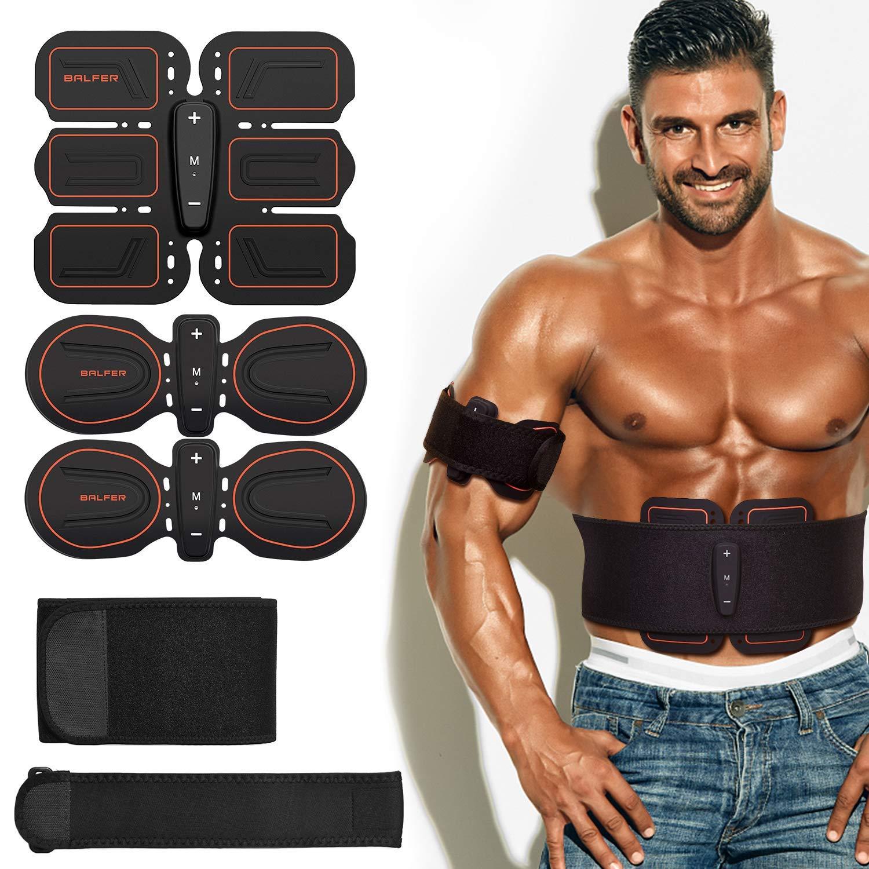 Stimolatore Addominali Gambe Braccia EMS Fascia Elettrostimolatore per Addominali Elettrostimolatore Addominali Uomo e Donna BALFER Stimolatore Muscolare