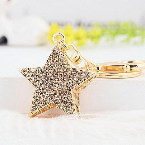 Amazon.com: Llavero de 3 colores con forma de estrella de ...