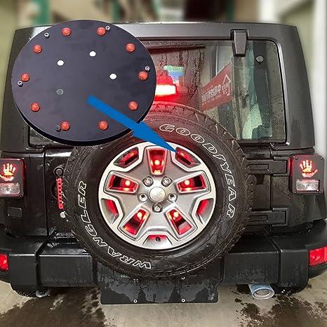jkcover Jeep modificados rueda de repuesto luz LED trasera luz trasera para Jeep Wrangler JK 2007
