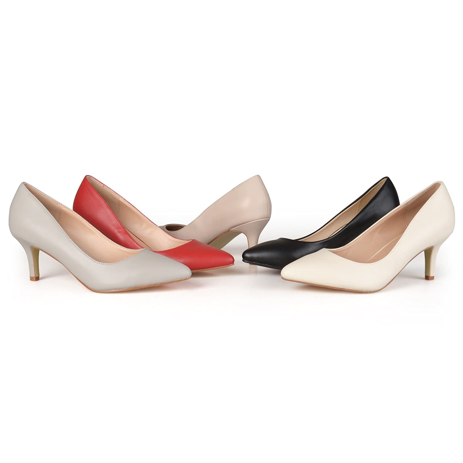 Retro & Vintage Style Shoes Brinley Co. Womens Classic Matte Pointed Toe Pumps $31.51 AT vintagedancer.com