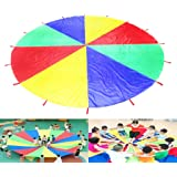HANGQI 3M Large Play Colorful Parachute Kids Children Outdoor Game Exercise Sport Toy