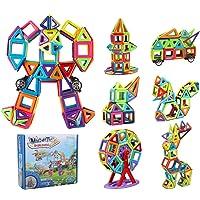 181 قطعة من مكعبات البناء المغناطيسية من انو تيك، مجموعة قوس قزح ثلاثية الابعاد | هدية تعليمية مبتكرة للاولاد والبنات…