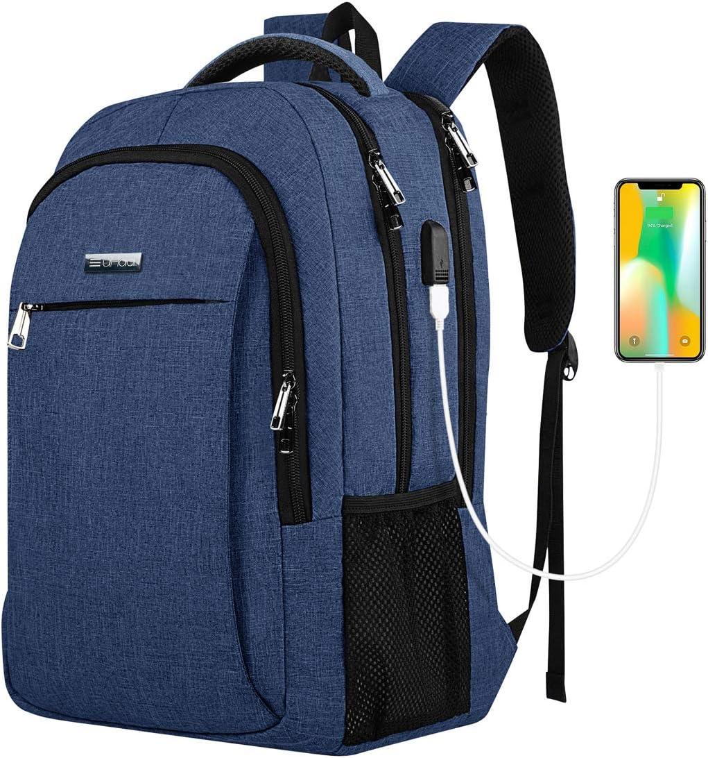 How.R.U - Mochila Juveniles Viaje, Morral Laptop Hombre/Mujer, Mochila Negocios Estance Hombre/Mujer, Rucksack Mochila Business Impermeable, Mochila Casual Gran Capacity Nylon, Morral Cargador (Azul)