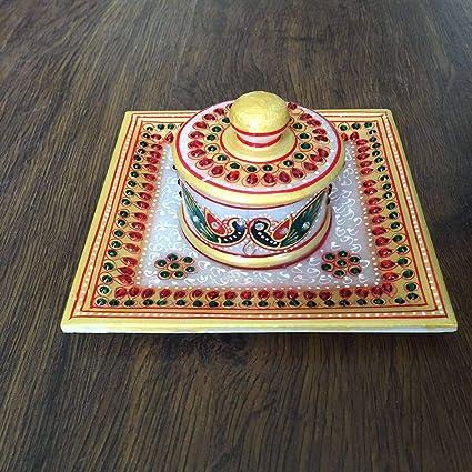 Buy Marble Dryfruit tryset 1 Dibi Gifting/Return Gifts